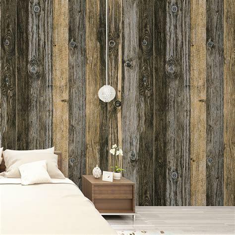 haokhome vintage wood grain vinyl wallpaper rolls tan