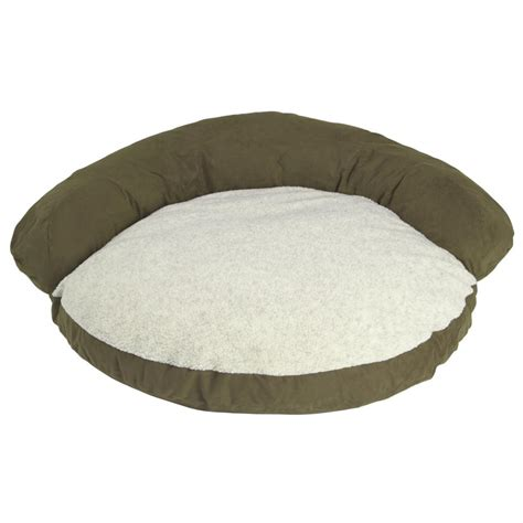 bed bolster hill dale microfiber pet bolster bed 104324 kennels