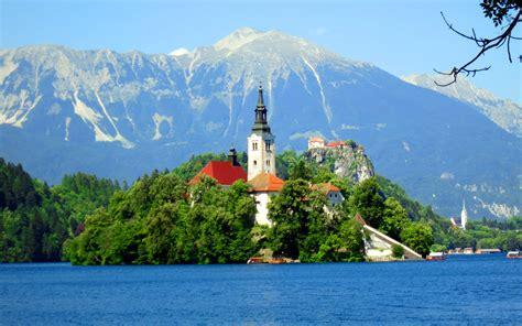 landscape lake bled slovenia wallpaper hd wallpaperscom