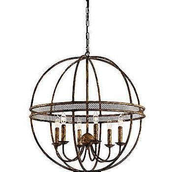 Wrought Iron Sphere Chandelier Wrought Iron Quot Sphere Quot Chandelier Horchow