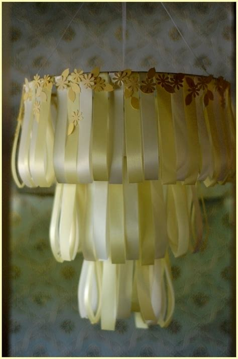 Laurie Cinotto Art Craft Wedding Cake Chandelier Ribbon Chandelier Diy