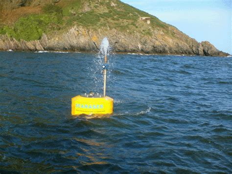 searaser device  waves  pump sea water uphill   huge boost  hydro power