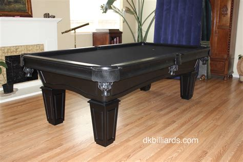 all black pool table dk billiards service orange