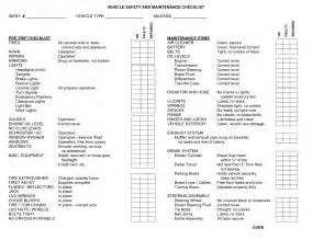 vehicle safety checklist template best photos of free vehicle maintenance checklist