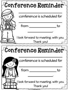 reminder templates for teachers parent conference time and must freebies