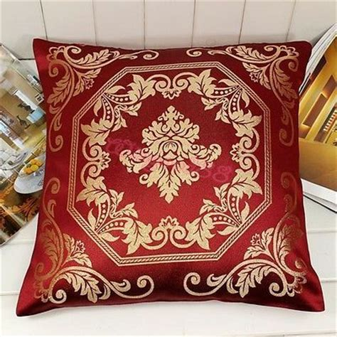 french burgundy gold damask cushion cover throw pillow