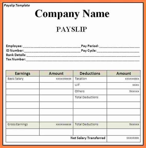 12 australia payslip sle download salary slip