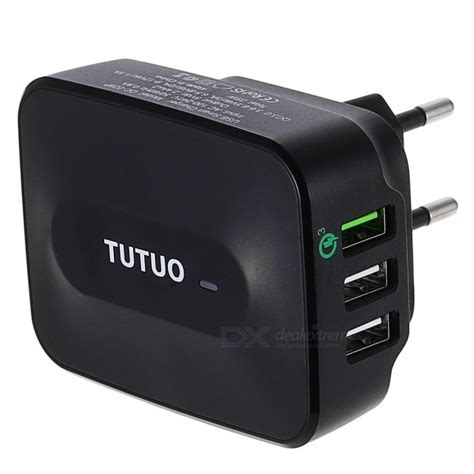 Travel Charger Usb Wellcomm Fast Charger 3 0 tutuo 25w qc3 0 3 port universal usb travel wall fast charger free shipping dealextreme