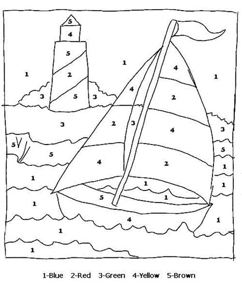 sailboat numbers color by numbers page print your color by numbers sail