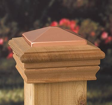 copper l post tops newport copper top post cap