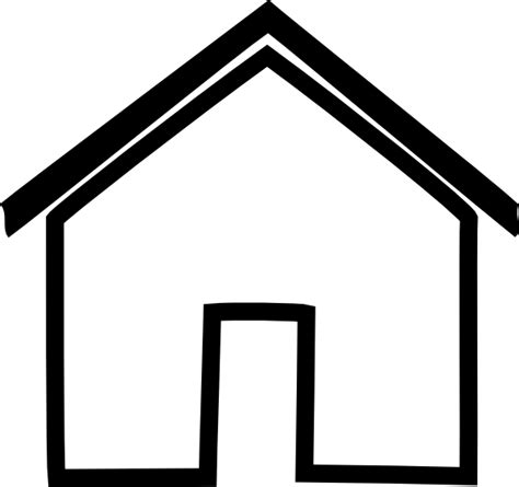 house outline black house outline clip art at clker com vector clip