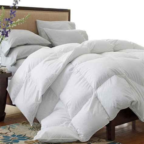 down blend comforter luxurie linens oversized all season white down blend