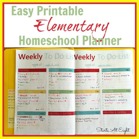 Printable Homeschool Planner