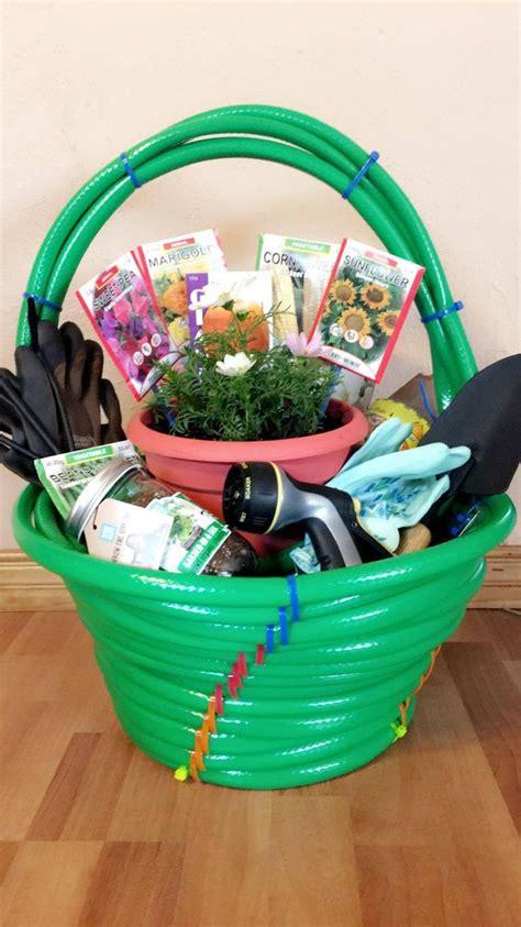 Themed Gift Basket Ideas For Auction | garden themed silent auction basket themed gift baskets