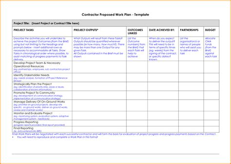 best work plan template 9 work plan template cashier resume