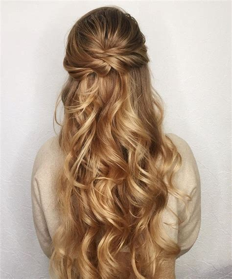 25 best long hairstyles for 2018 half ups upstyles plus prom hairstyles for long hair half up half down