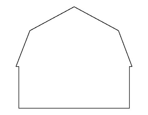 template farm barn pattern use the printable outline for crafts