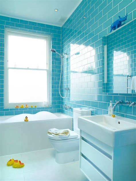 Blue Glass Tile Bathroom by 40 Blue Glass Bathroom Tile Ideas And Pictures