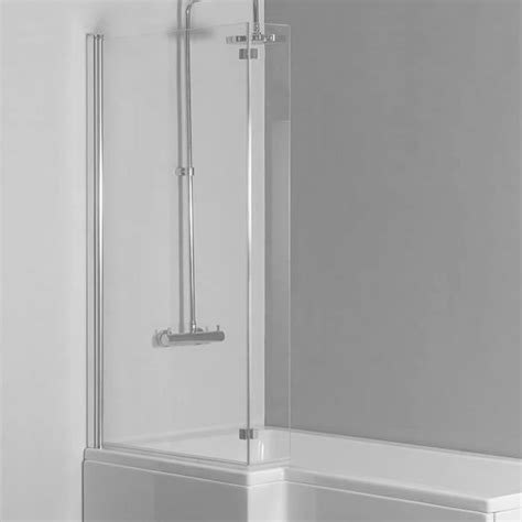 l shaped bath shower screen cube l shaped bath screen bhs home improvements