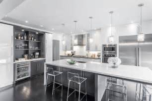 White And Grey Kitchen Designs Modern White Amp Grey Kitchen Design Oakville Modern