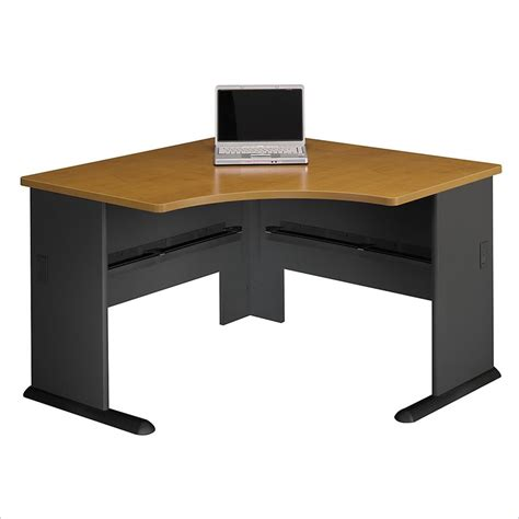 Bush Furniture Series A Corner Wood Natural Cherry Corner Pc Desks