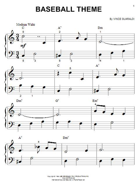 Theme Songs Baseball | baseball theme sheet music direct