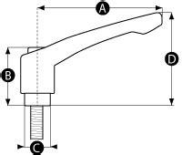 Wing Bolt M 8 X 40 Mm Baut Kupu Kupu M 8 X 40 Mm Baut Sayap 3 cling handle m8 x 40mm ratchet mechanism jigs knobs wing lathe lever trend ebay