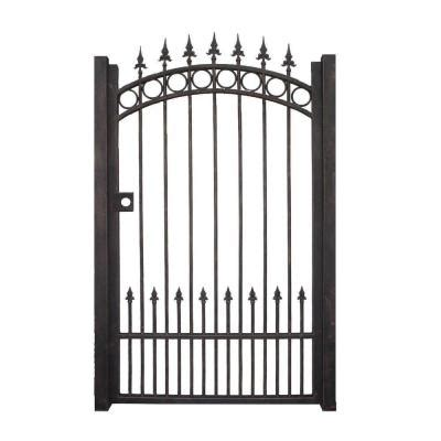 decorative garden gates home depot trento 3 5 ft w x 6 ft h black garden metal gate trgg 124 the home depot