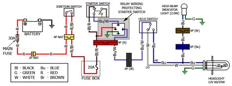 wiring diagram for motorcycle running lights get free