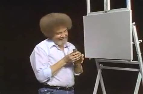 bob ross painting with squirrel bob ross feeds a squirrel