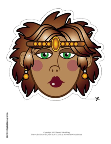 printable masks queen printable queen with tiara mask mask