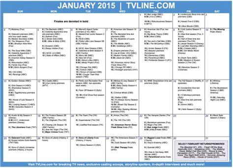 Calendario Completo Calendario Completo De Series Americanas Enero 2015