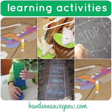 learning crafts for 6 learning activities on it s playtime