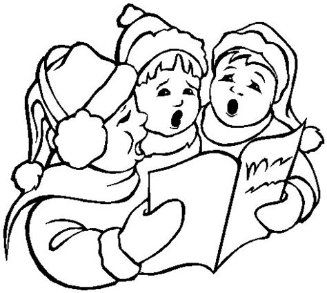 coloring page christmas carolers printable christmas coloring page boy carolers