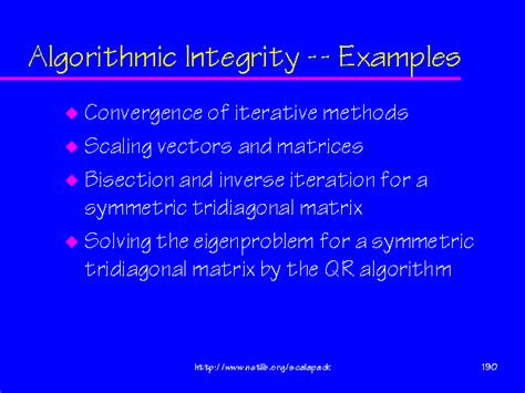 exle of integrity algorithmic integrity exles
