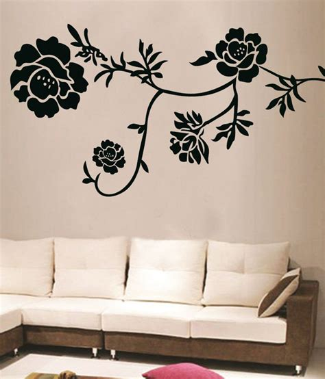 floral wall stickers decals arts black floral wall stickers buy decals arts