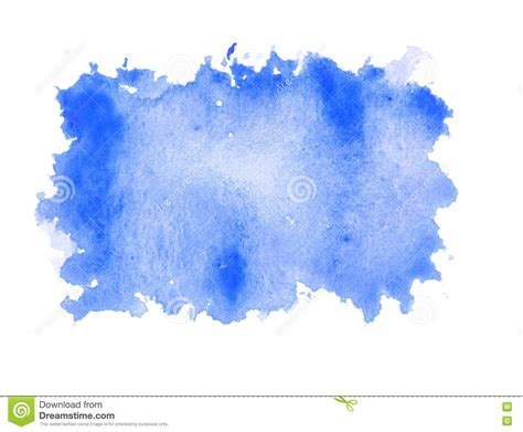 water blue color blue water color paint rough square shape texture on white