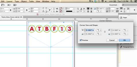 indesign layout adjustment cs6 indesign cs6 how do i adjust individual corner options