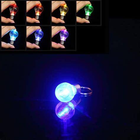 Gantungan Kunci Senter Mini Torch Flash Light Key Chain creative colorful changing led flashlight light mini bulb l key chain ring keychain clear