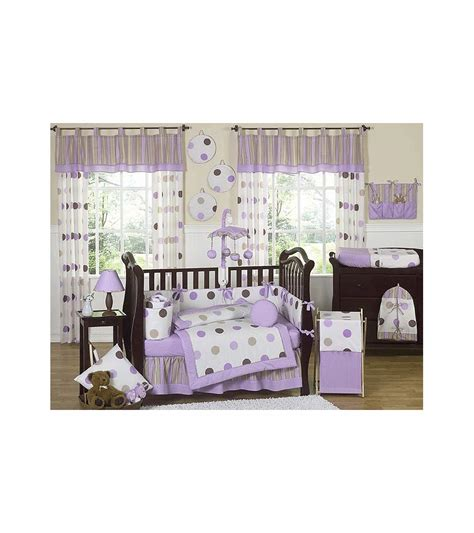 sweet jojo baby bedding sweet jojo designs mod dots purple 9 piece crib bedding set
