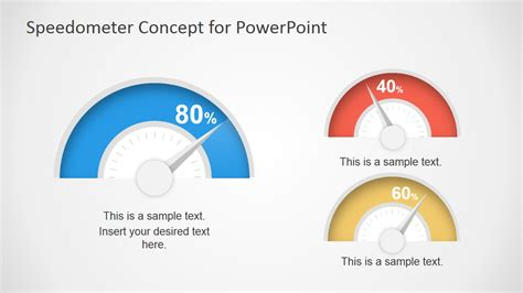 Speedometer Concept For Powerpoint Dashboard Slidemodel Powerpoint Speedometer Template