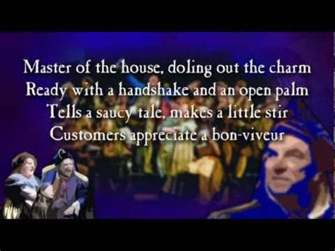 master of the house lyrics master of the house les miserables instrumental youtube