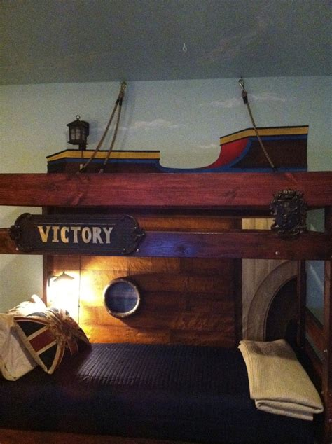 Pirate Ship Bunk Bed Bunk Bed Made Pirate Ship Painted Canvas Background On The Bunk You Re On The Ship S