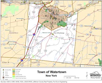watertown ny maps town of watertown