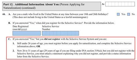 Selective Service Information Letter Selective Service Status Information Letter N400 Docoments Ojazlink