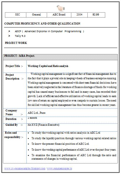 standard resume format for mba finance experience 10000 cv and resume sles with free mba finance resume sle for experience