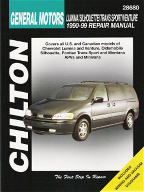 manual repair autos 1999 chevrolet lumina security system 1990 1999 lumina venture silhouette trans sport montana chilton s manual