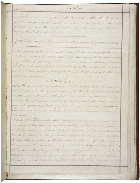 What Does Section 2 Of The 14th Amendment by Constitutional Amendments 11 27
