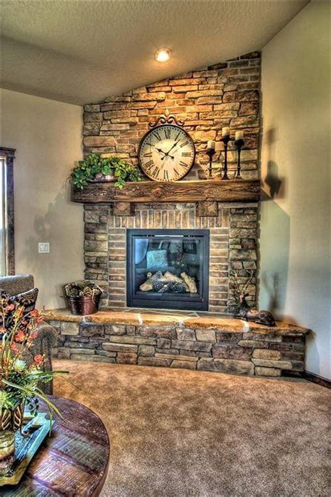 decorating fireplace stone and brick corner fireplace design corner fireplace
