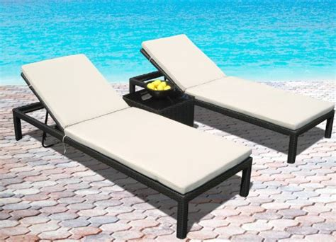 pool lounge chair outdoor wicker patio pool lounge all weather 3 pc resin